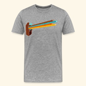 Laser Blast (vintageprint, free shirtcolor selection) - Men's Premium T-Shirt