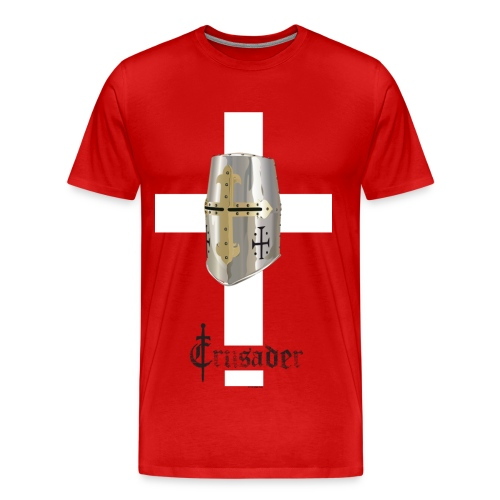 Crusader white on color Heavyweight T - Men's Premium T-Shirt