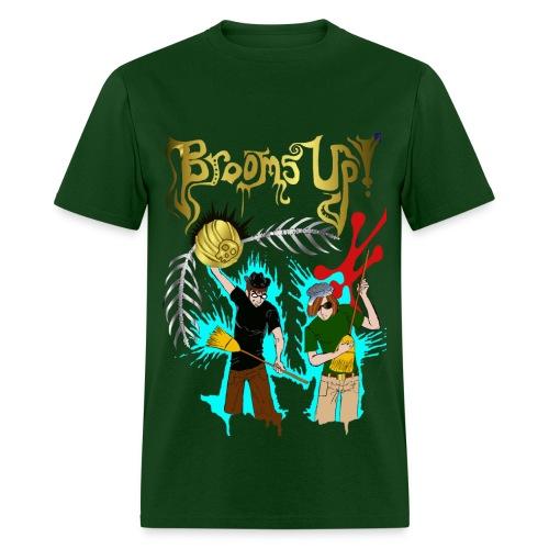 Men's green Brooms Up shirt - Men's T-Shirt