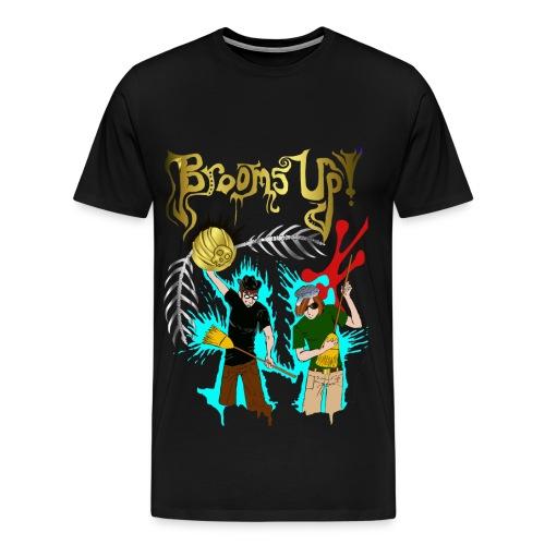 Men's black Brooms Up shirt - Men's Premium T-Shirt