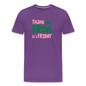 THANK FROG IT's FRIDAY office humour with cute little frog T-Shirts - Men's Premium T-Shirt