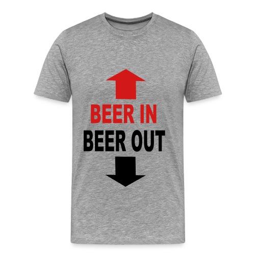 Beer in Beer out - Men's Premium T-Shirt