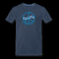 T-Shirts ~ Men's Premium T-Shirt ~ Peace Love & Blue Lobsters - front