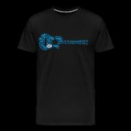 T-Shirts ~ Men's Premium T-Shirt ~ mvyradio Blue Lobster Guitar
