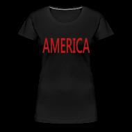 Women's T-Shirts ~ Women's Premium T-Shirt ~ America