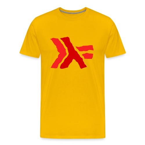 Haskell logo painted: red - Men's Premium T-Shirt