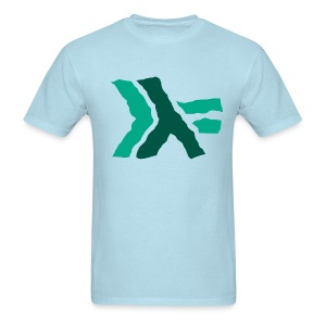 Wavy Turquoise Haskell logo - Men's T-Shirt