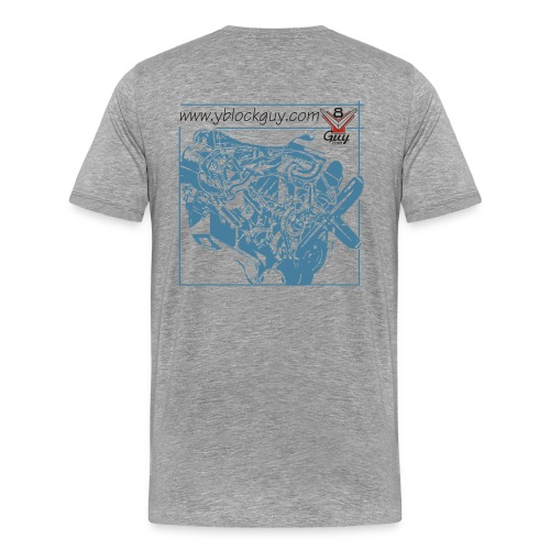 Y-Block Guy cutaway - Men's Premium T-Shirt