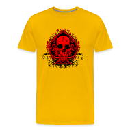 T-Shirts ~ Men's Premium T-Shirt ~ Poker Skull - Heavyweight Shirt