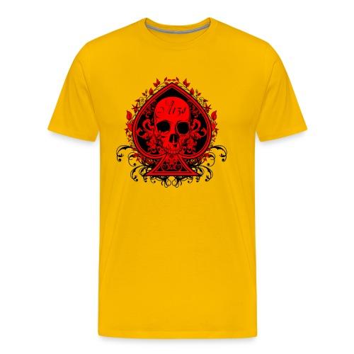 Poker Skull - Heavyweight Shirt - Men's Premium T-Shirt