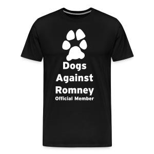 Dogs Against Romney Offical Member Tee - Men's Premium T-Shirt