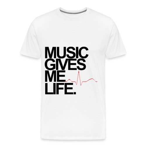 Music Gives Me Life T-Shirt - Men's Premium T-Shirt