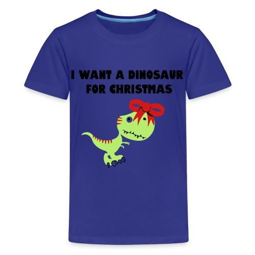 Christmas dino - Kids' Premium T-Shirt