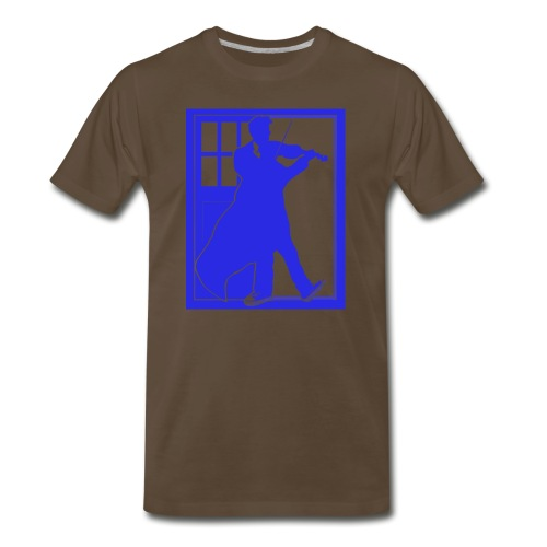 The Fiddling Doctor Blue Version 3x - Men's Premium T-Shirt