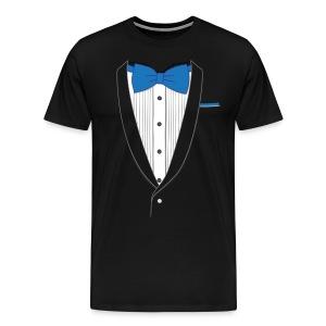 Tuxedo T Shirt Classic Blue Tie - Men's Premium T-Shirt