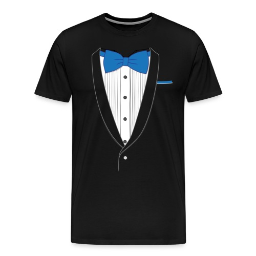 Tuxedo T Shirt Classic Blue Tie - Men's Premium T-Shirt