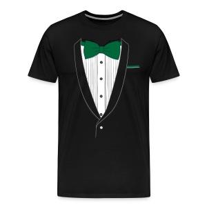 Tuxedo T Shirt Classic Green Tie - Men's Premium T-Shirt