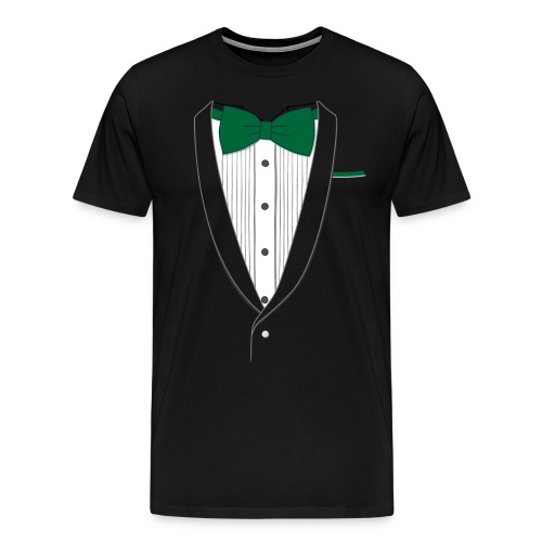 Tuxedo T Shirt Classic Green Tie - Men's Premium T-Shirt
