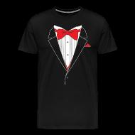 T-Shirts ~ Men's Premium T-Shirt ~ Funny Tuxedo T Shirt