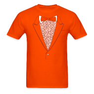 T-Shirts ~ Men's T-Shirt ~ Tuxedo T Shirt Deluxe Orange
