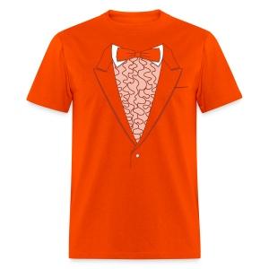 Tuxedo T Shirt Deluxe Orange - Men's T-Shirt