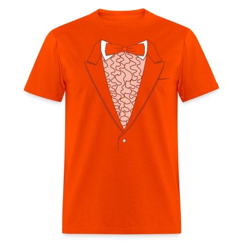 Tuxedo t shirt deluxe orange t shirt fake tuxedo shirts for Tuxedo shirt vs dress shirt