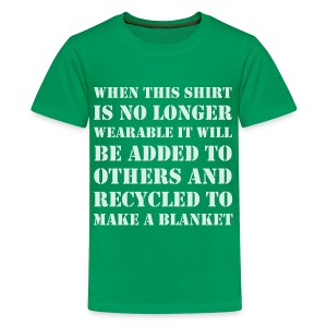 Recycling Shirt to Blanket - Kids' Premium T-Shirt