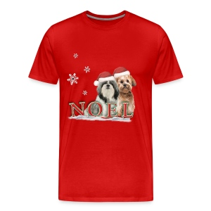 Noel Puppies Christmas t-shirt - Men's Premium T-Shirt