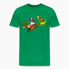Santa's Gift Delivery with a Slingshot T-Shirts