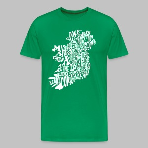 County Name Map - Men's Premium T-Shirt