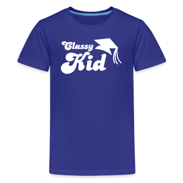 Classy Kid educated with mortar board graduation Kids' Shirts