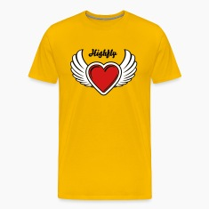Winged Valentine's Heart 2_3c T-Shirts