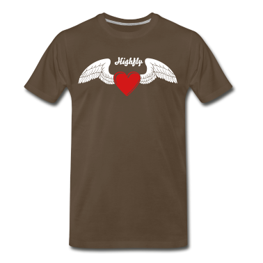 Winged Valentine's Heart 1_2c T-Shirts