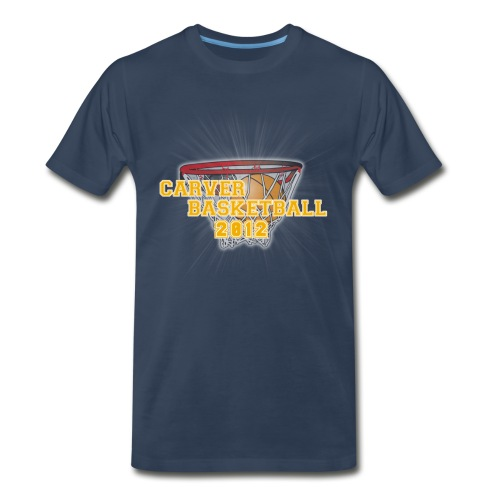 carver_basketball_2012_with_ball_and_hoop - Men's Premium T-Shirt
