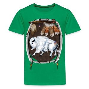 White Buffalo Sheild - Kids' Premium T-Shirt
