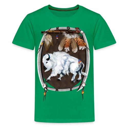 White Buffalo Sheild - Kids' Premium T-Shirt