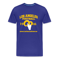 T-Shirts ~ Men's Premium T-Shirt ~ Los Angeles Football T-Shirt (Royal Blue)