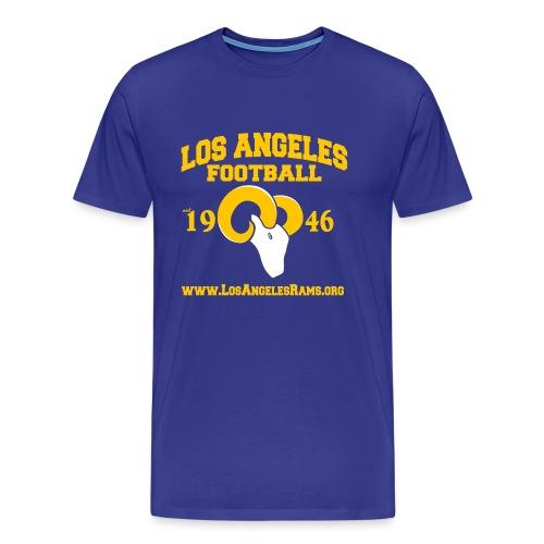 Los Angeles Football T-Shirt (Royal Blue) - Men's Premium T-Shirt