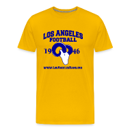 T-Shirts ~ Men's Premium T-Shirt ~ Los Angeles Football T-Shirt (Gold)