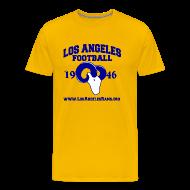 T-Shirts ~ Men's Premium T-Shirt ~ Los Angeles Football T-Shirt (Gold)