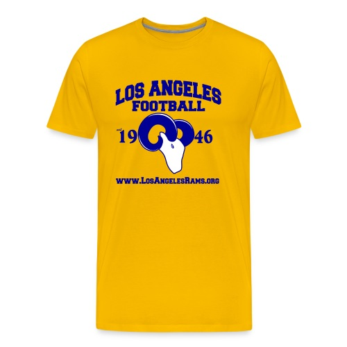 Los Angeles Football T-Shirt (Gold) - Men's Premium T-Shirt