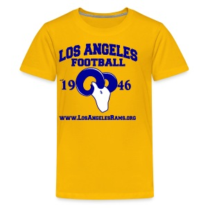 Los Angeles Football Children's T-Shirt (Yellow) - Kids' Premium T-Shirt