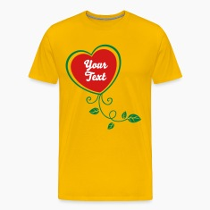 Heart with Floral 1_2c T-Shirts