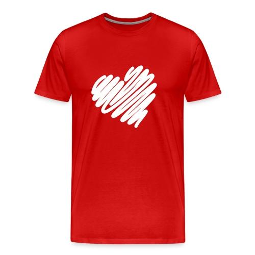 Heart Valentine's Day - Men's Premium T-Shirt