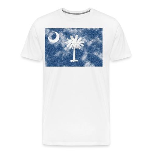 Aged South Carolina Flag - Men's Premium T-Shirt