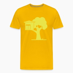 tree house in a tree with a garden with grass T-Shirts