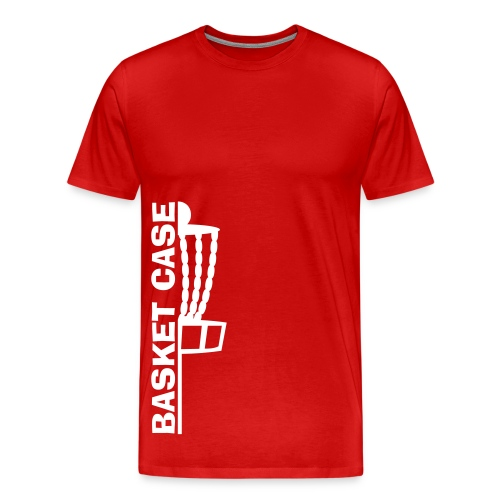Basket Case - Adult Disc Golf Shirt - Red - Men's Premium T-Shirt
