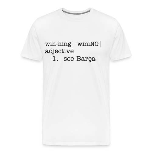 Winning Barcelona - Men's Premium T-Shirt