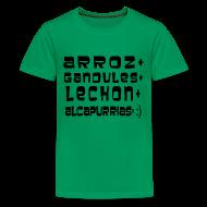 Kids' Shirts ~ Kids' Premium T-Shirt ~ ARROZ+ GANDULES+ LECHON+ ALCAPURRIAS= :) KIDS