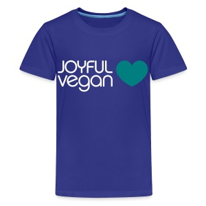 Children's Joyful Vegan Blue Heart - Kids' Premium T-Shirt